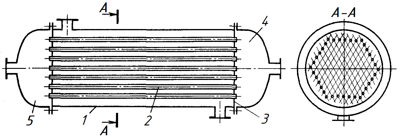 Теплообменник кожухотрубный эскиз теплообменник водяной два